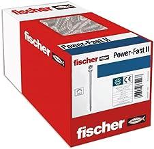 fischer 200 x spaanplaatschroef Power-Fast II 4,0 x 45, verzonken kop met kruiskop Gedeeltelijk verzinkt verzinkt, blauw g...