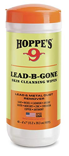 Hoppe's LBG40 Lead-B-Gone Skin Cleansing Wipes Package of 40