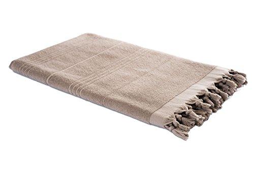 100/% Cotone Asciugamano di Sauna Asciugamano di Bagno Asciugamano e Panno di Hamam in uno Asciugamano dello Sport Carenesse Asciugamano di Hammam 2in1 grigio antracite Asciugamano Bagno Turco Asciugamano di Spiaggia 90 x 190 cm Fouta
