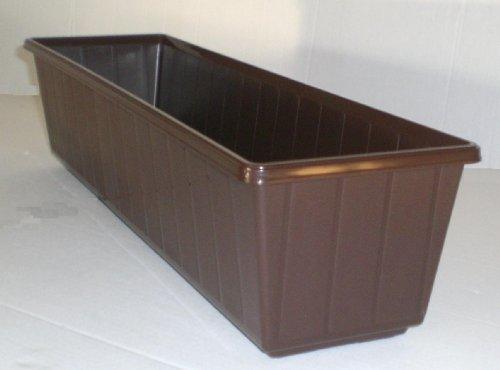 Flair plastic jardinière en plastique 80 cm couleur marron