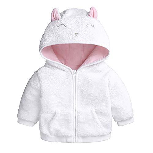 Borlai Noworodki niemowlęcy płaszcz zimowy śliczny ciepły gruby płaszcz kurtka bluza z kapturem Outwear 0-18 miesięcy