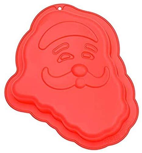 hwljxn Weihnachtsbaum Silikon Kuchen Mold Santa Claus Kuchen Pan Form Für Backen 3D DIY Fondant Kuchen Schokolade Cookie Süßigkeiten Backform (Color : Red)