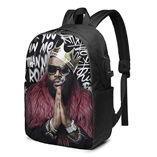 Rick Ross Rather You Than Me The Exploited 17-Inch Laptop Multifunctional Backpack With Usb Interface