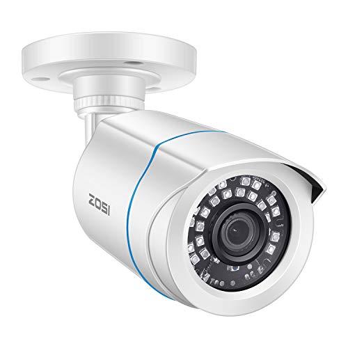 ZOSI 1080P HD Außen Video Überwachungskamera 4-in-1 TVI/CVI/AHD/CVBS 960H CCTV Weiß Kamera mit OSD Menü, 24M IR Nachtsicht