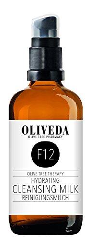 Oliveda F12 - Reinigungsmilch Hydraten | sanfte porentiefe Naturkosmetik Gesicht Reinigung | trockene & sensible Haut | schonend | Make-Up Entferner - 100 ml