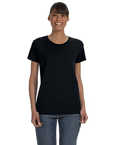 Gildan 5000L - Missy Fit Ladies T-Shirt Heavy Cotton - First Quality - Black - 2X-Large