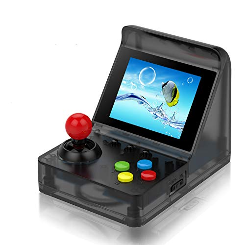 Handheld Game Console, Arcade Mini Game Console Video Game Console with 3 Inch 520 Classic Games , Birthday Present for Children - Transparent Black