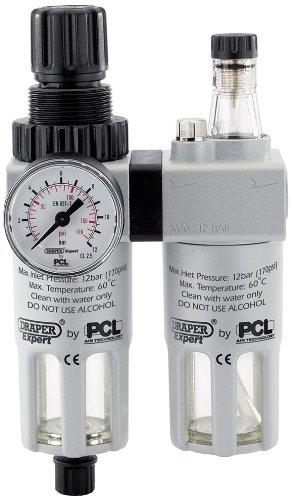 DRAPER 43401 Expert PCL 1/4-inch BSP combineert filter/regelaar/luchtbevochtiger, eenheid (uitloopmodel by MA (oude versie)