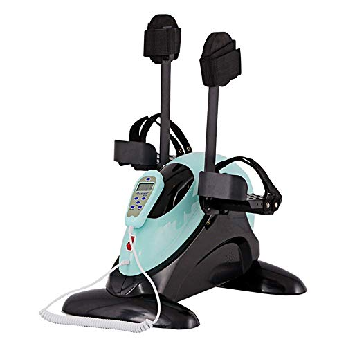 Ejercitador Pedal motorizado piernas y Brazos, Mini Bicicleta estática Soporte protección piernas - Ejercitador Pedal eléctrico Personas Mayores, discapacitados, discapacitados y sobrevivientes acci