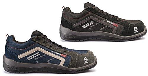 Sparco 0751842BMGR Zapatillas, Azul/Gris, 42