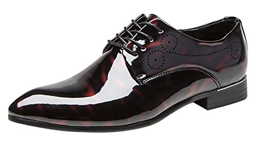 Red Leather Oxford Shoes for Men