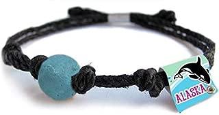 Earth Bands Alaska Whale Bracelet | Eco Friendly | Natural Hemp | Vegan Boho | Custom Jewelry | Handmade USA with Earth & Sand