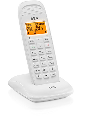 AEG Voxtel D81 - Teléfono Fijo inalámbrico DECT con Altavoz, Negro