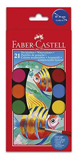 FABER-CASTELL Estuche 21 Acuarelas Con 2 pennelli