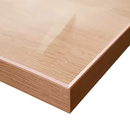 Generisch VioLife Tischdecke Tischfolie Tischschutzfolie Transparente PVC Folie Schutzfolie Glasklar 2mm Made in Germany + abgeschrägte Kante (90 x 160 cm)