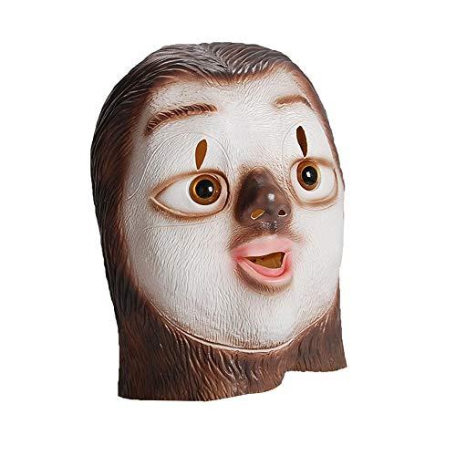 Kingbra Zootopia Faultier Flash Latex Kopf Tiermasken Make-up Halloween Cosplay Requisiten Cosplay Kostüm Party Supplies