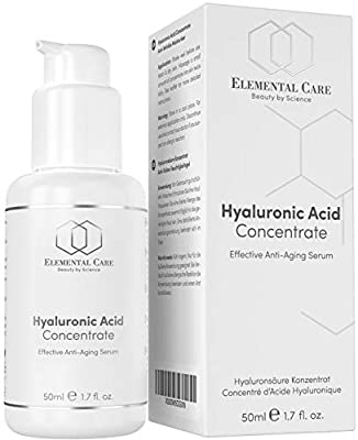 INTRODUCTORY OFFER Hyaluronic Acid Serum Vegan 50ml Opal Glass - Powerful, Highly Dosed Anti-Aging Face Serum - Great Anti-Wrinkle Skin Care, Moisturiser, Eye & Face Cream - Made in Germany