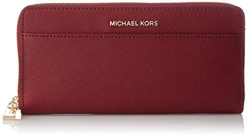 Michael Kors Damen Wallets Geldbörse, Rot (Mulberry), 3x11x21 cm