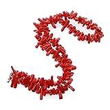 TreasureBay Collar de coral rojo hecho a mano para las mujeres