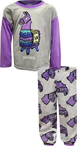 Fortnite Girls Loot Llama Cozy Pajamas (12) White