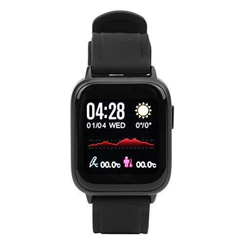 DAUERHAFT Rendimiento Estable Reloj Inteligente de sincronización de Datos en Tiempo Real, Caminar, Correr, Andar en Bicicleta, Escalar montañas(Black)