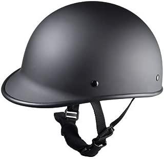 Size L Motorcycle Biker Cruiser Novelty Matte black Polo Half Helmet Touring Low Profile