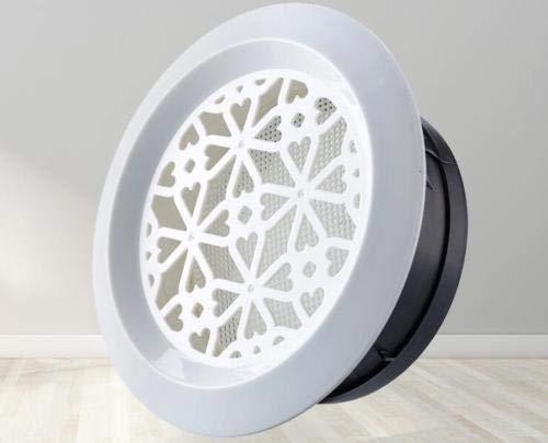 XiaoOu Cubierta de ventilación Válvula de extracción de Aire de Techo Ajustable Difusor Redondo Cubierta de conducto Ventilación de Aire Cubierta de ventilación de Rejilla, Azul