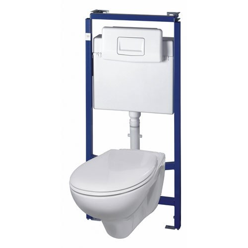Ceravid Wand WC Tiefspüler hänge inkl. Trockenbau Element im Komplett Pack, C73010000