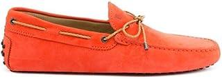 TOD'S Men's XXM0GW05473VEKR010 Orange Leather Loafers