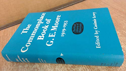 Commonplace Book, 1919-1953. Edited by Casimir Lewy