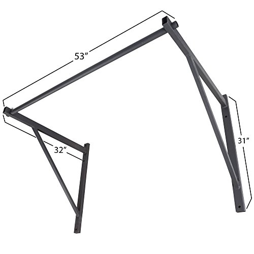 TITAN Wall Mounted Chin Pull Up Bar Heavy Duty Home Gym Workout Fitness Pro Mount