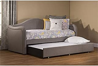 BOWERY HILL Upholstered Storage Daybed with Trundle in Brown