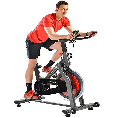 indoor cycling exercise bike red