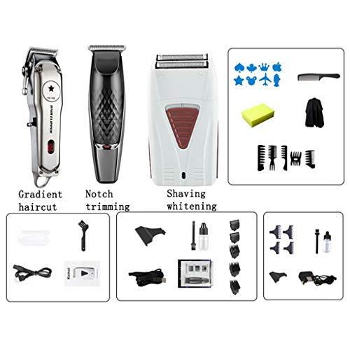 Zymschnurloser Haarschneider, LCD-Digitalanzeige Metallgehäuse, Viergang-Trimmen des Messerkopfs, 4 Begrenzungskämme, Der Gekrümmte R-Winkel des Messerkopfs TUT Dies