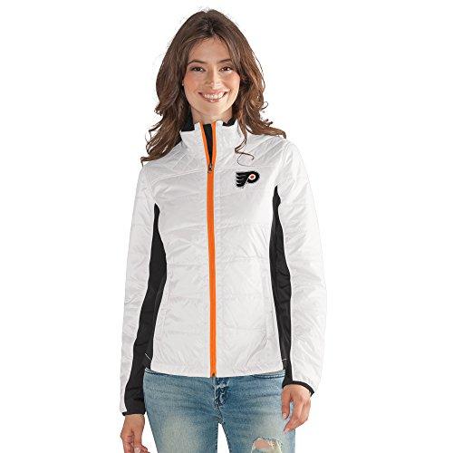 G-III Sports Damen Full Zip Jacket Grand Slam Jacke mit durchgehendem Reißverschluss, Weiß, Small