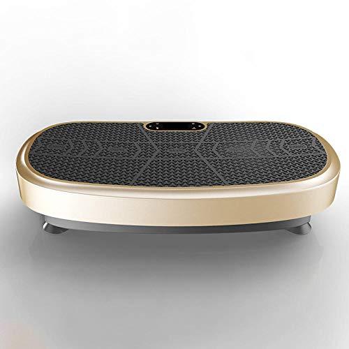 Topashe Fitness vibrationsplatte LCD Display,3D Fitness Schlankheitsmaschine, Körperformung und Schüttelmaschine-Gold,Vibrationsplatte Leicht zu Bedienen