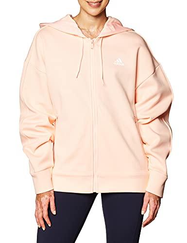 adidas W S2LDN FZ HD Sweatshirt, Mujer, Haze Coral, XS