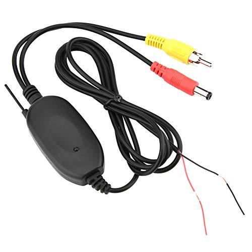 Garsent Transmisor de cámara de Coche Transmisor de Video inalámbrico Receptor 2.4G Sistema de cámara de Respaldo 2.4G Módulo de cámara inalámbrica de Coche DVD de Coche(Interfaz AV)