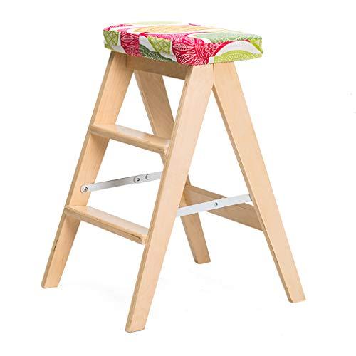 CKH massief hout creatieve eenvoudige vouwen ladder kruk keuken kruk draagbare kruk vouwstoel Thuis bank