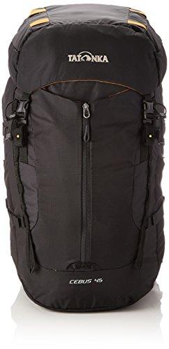 Tatonka Cebus 45 - Touren- und Kletterrucksack mit abnehmbarem Hüftgurt und Fronttasche - 45 Liter - Männer und Frauen - schwarz