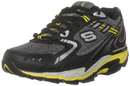 Skechers Diamondback Diamondback - Zapatillas de Cuero para Hombre, Color Negro, Talla 39
