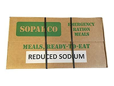 Sopakco MRE Meals Ready To Eat Case Pack of 14 For Survival And Emergency Green Box