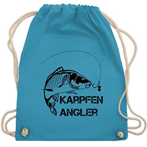 Shirtracer Angeln - Karpfen Angler - Unisize - Hellblau - angelrute karpfen - WM110 - Turnbeutel und Stoffbeutel aus Baumwolle