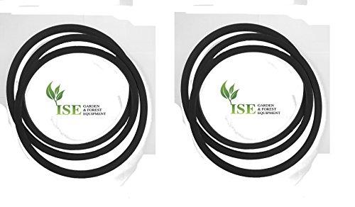 ISE® Set van vervanging aandrijving en dek riemen voor Jonsered LT 2217 A vervangt aandrijfriem deel nummer 532130969 en vervangt dek riem deel nummer 532429636