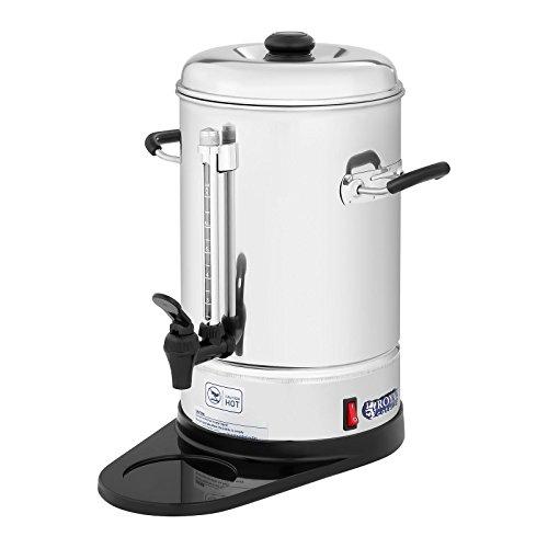 Royal Catering Cafetera de filtro industrial RCKM-WOF6 (1.150 W, 6 L, max. 85 °C, Preparación y mantenimiento en caliente, Con grifo para servir, Incluye bandeja recoge gotas)