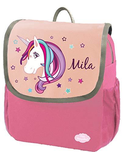 Mein Zwergenland Kindergartenrucksack Happy Knirps Next mit Name Einhorn Beauty, 6L, Pink