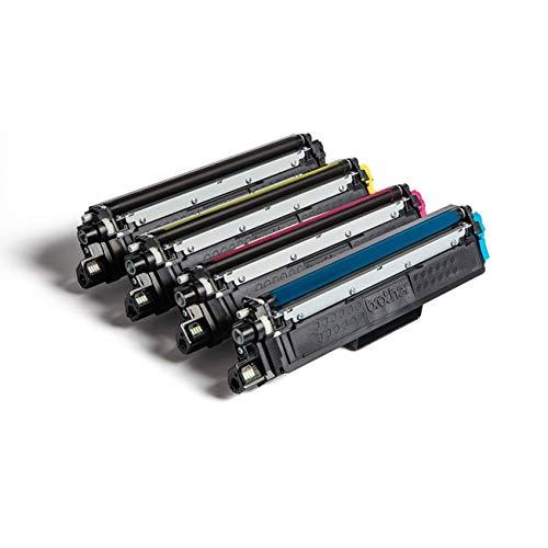 Brother TN-243CMYK - Pack 4 tóner (BK/C/M/Y), duración 1.000 según ISO/IEC 19798, compatible con HLL3210CW, HLL3230CW, HLL3270CW, DCPL3510CW, DCPL3550CW, MFCL3710CW, MFCL3750CW, MFCL3770CDW