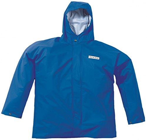 Ocean Rainwear Damen Herren Regenjacke Comfort Heavy Segeljacke, Farbe:Royalblau, Größe:XXL