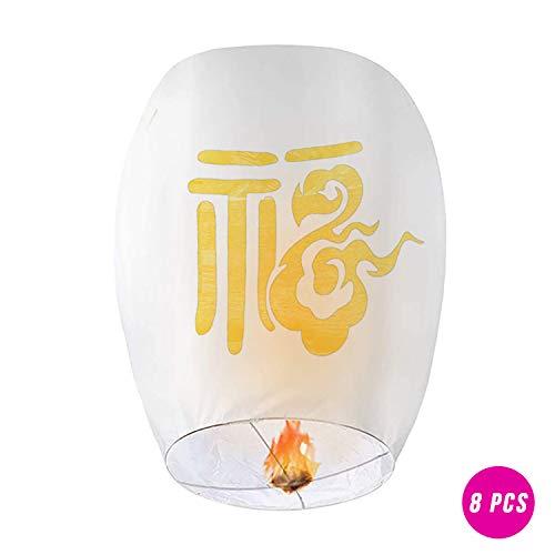 Chinese Lanterns Second Generation Product 8 Pack Paper Wish Lanterns 100%...