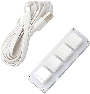 プログラマブルキーボード4キーカスタム可能なキー メカニカルキーボード 片手マクロ可能 小型キーボード ショットカットキー DIYキーボード USB接続 MacOS、Windows、Linux、MacOS、Android、Raspberry P...